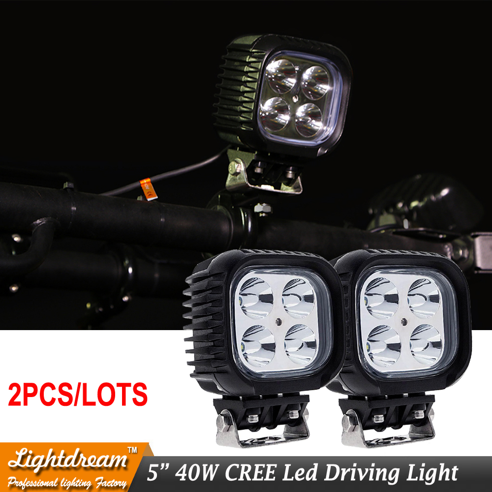 40W LED WORK LIGHT 5inch 9 32V Spot Flood Beam IP67 Off Road work lamp FOR