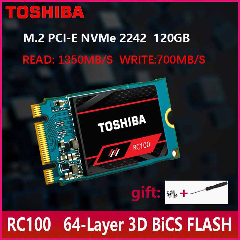 TOSHIBA NVMe 120GB M.2  2242 PCIe 3.0*2 SSD Internal Solid State Drive Disk 1350MB/S  for Laptop Desktop-in Internal Solid State Drives from Computer & Office    1
