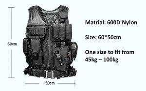 Image 3 - 높은 품질 전술 조끼 보안 야외 훈련 전투 CS 필드 보호 조끼 페인트 볼 게임 SWAT 팀