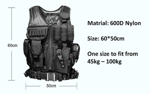 Image 3 - High Quality Tactical vest security outdoor training combat CS field protection vest For Paintball Game SWAT Team