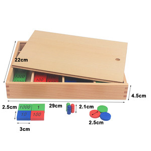 Image 5 - New Arrival Montessori วัสดุไม้ของเล่นแสตมป์เกมขนาดใหญ่ Beech ไม้คณิตศาสตร์ของเล่นเด็ก Early การศึกษาเด็กของขวัญวัน