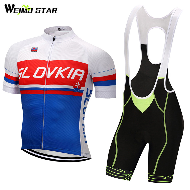 Slovakia Shirt Cycling jersey Weimostar mtb Road Bike Jersey ropa ciclismo cycling clothes Breathable Racing Set