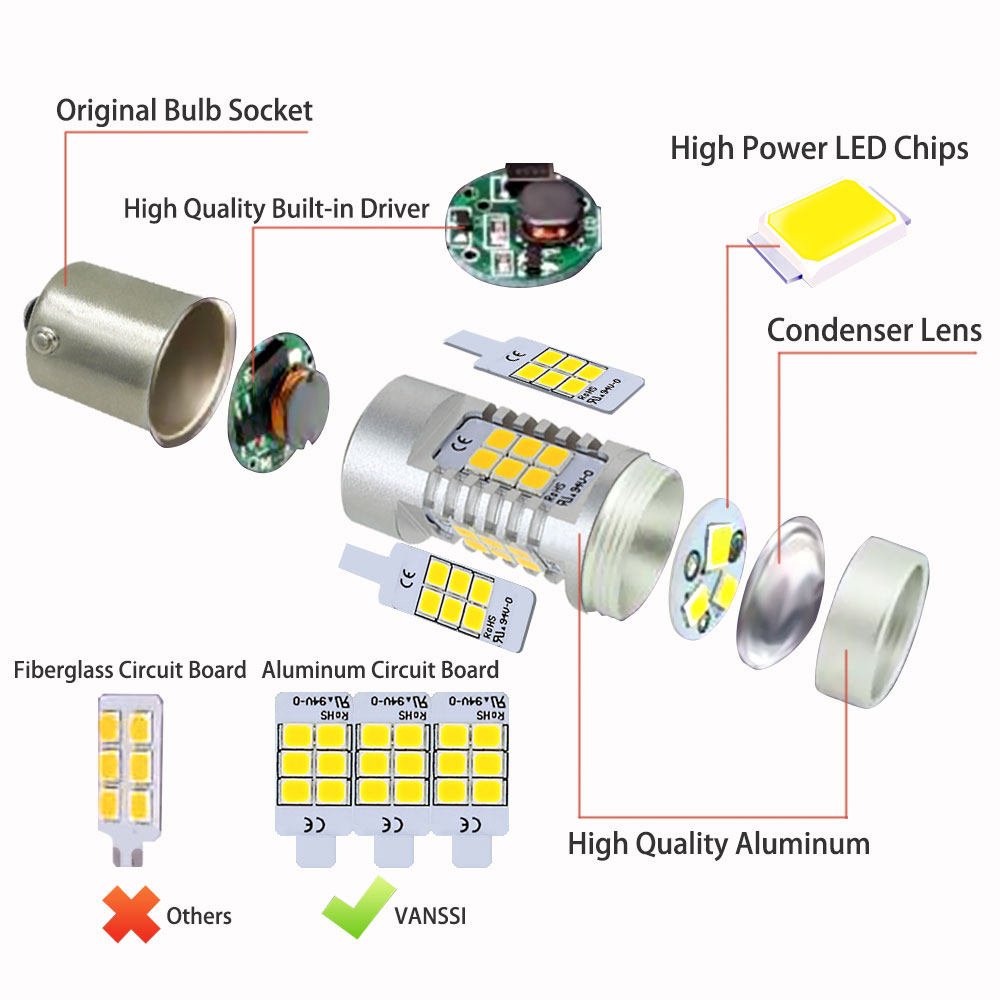 Yellow Amber T20 7443 Led T25 1156 3157 P21w Bau15s Py21w Turn Light Socket Wiring Diagram Signal Drl Car Lights Kammuri In Lamp From Automobiles Motorcycles On