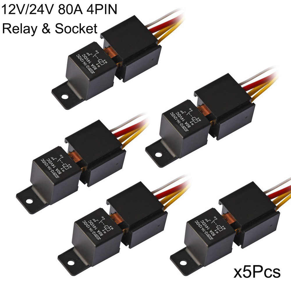 hight resolution of kh 5 set waterproof car relay harness socket 12v 24v 4pin 4 wire
