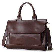 Ofis çantaları Erkekler için Iş Çanta Veri Dosya Evrak Çantası Iş Çantası PU Deri Kahve A4 Dosya Paketi Portafolios Maletin Para Hombres