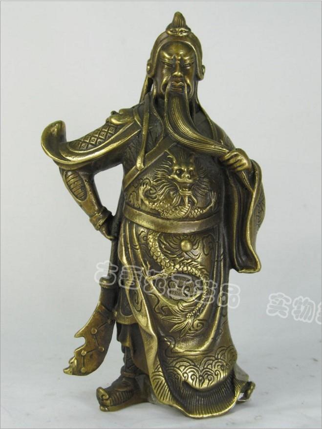 Chinese Guan Gong Wu Fortuna copper ornaments gift font b knife b font Guan Lucky Feng