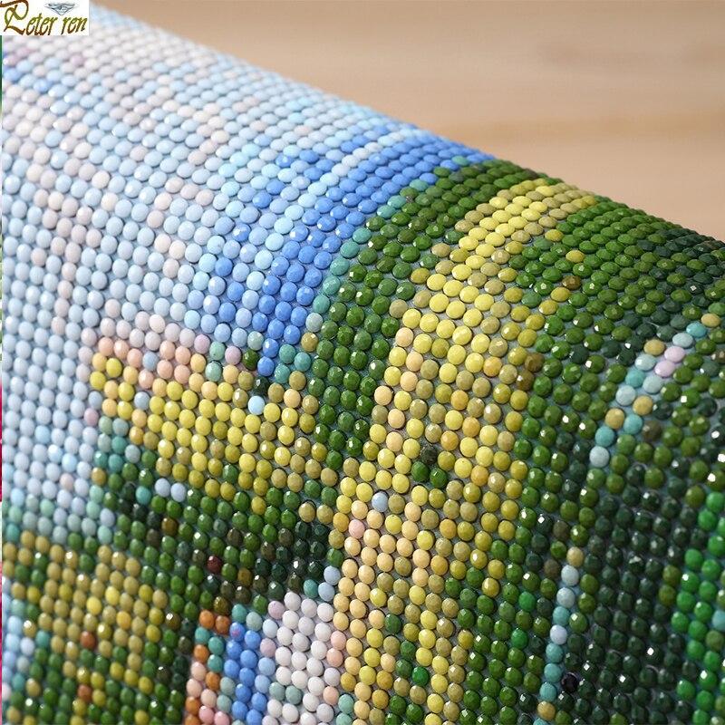 Peter ren Diamond painting cross stitch full mosaic Embroidery with diamonds Rhinestone for needlework