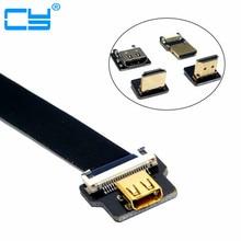 Micro HDMI Female D Type to HDMI FPV FPC Flat Cable for GoPro GH4 BMPCC A5000 A6000 A7R A7S 5cm 10cm 20cm 30cm 50cm 80cm цена в Москве и Питере