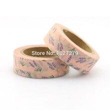 1 roll 1.5cm*10m Beautiful Lavender washi tape DIY decorative scrapbook planner masking tape adhesive tape stationery все цены