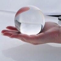 Freies verschiffen Kein Kratzer Seltene Natürliche Quarz Kristall Glas Kugel Klar Magic Ball Chakra Healing Home Dekoration-in Steine aus Heim und Garten bei