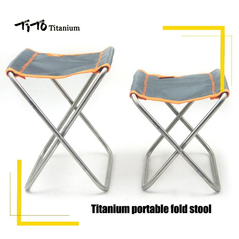 TiTo Titane chaise pliante chaise de camping En Plein Air Pour Pique-Nique Et la Randonnée chaise pliante portable Tabouret ultra lumière