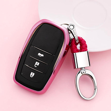 New Wear resistant Soft TPU Key Cover Case For Toyota Chr C-hr RAV4 Land Cruiser 200 Avensis Auris Corolla Prius keyless 2019 soft tpu car key case cover keychain for toyota avalon 8 camry 2019 levin ioza chr