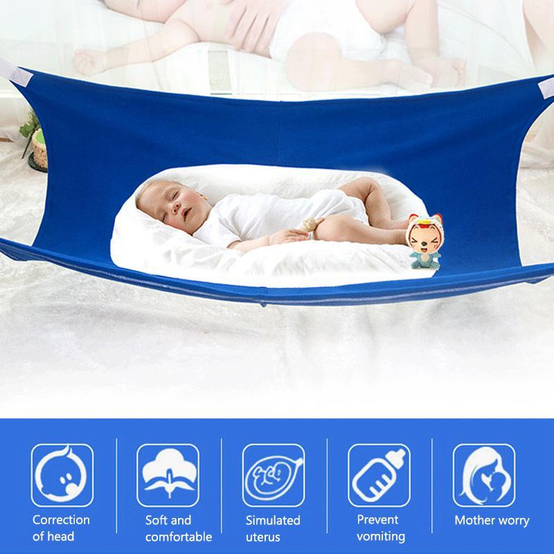 Summer Infant Baby Hammock Breathable Adjustable Folding Crib For Newborn Kid Home Garden Elastic Hanging Bed