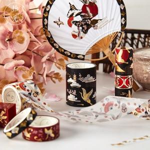 5 Pcs/set Decorative Retro Divine Gold Washi Tape Set Japanese Paper Stickers Scrapbooking Vintage Adhesive Washitape Stationary