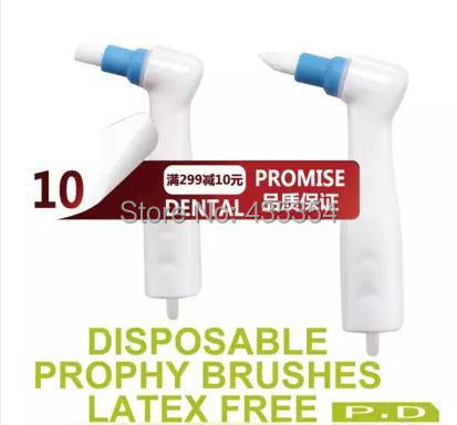 40 PCS Hot Sale Dental Disposable Prophy Angles Two Types of Tapered And Flat