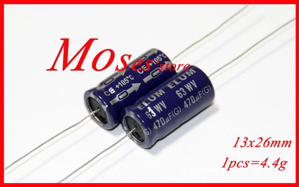 10 x Condensadores axiales 4.7nf 0.0047uF 630V Axial capacitors