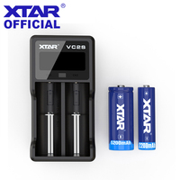 XTAR VC2S Charger LCD VC2 S 18650 Battery Charger Travel Power Bank 3.6V/3.7V Li ion Batteries 18650 26650 Battery Chargers XTAR