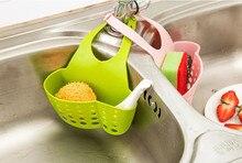 Kitchen Portable Hanging Drain Bag Basket Bath font b Storage b font Gadget Tools Sink Holder