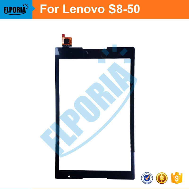 Tablet Touch Panel 8'' Inch For Lenovo S8-50 Touch Screen Digitizer Front Glass with Flex Cable Assembly 100% New tablet touch panel 10 1 inch for asus me302 touch screen digitizer front glass with flex cable assembly 100% new