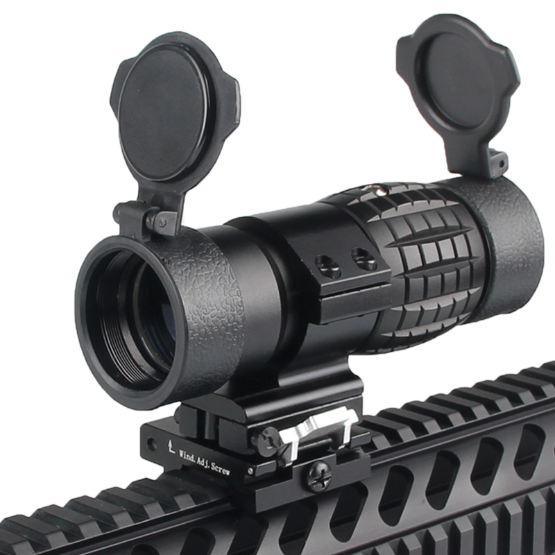 Tactical 3X Magnifier Scope Optics Scopes Riflescope Fits Aimpoint Sight with Flip To Side Picatinny Weaver Rail Mount RL6-0067 free shipping 20mm rail tactical 4x magnifier quick flip scope w flip to side mount fit for holographic sight