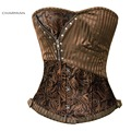 Charmian Sexy Steampunk Corset for Women Plus Size Steel Boned Overbust Corset Shaper Cincher Bustiers Waist Trainer Corselet