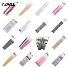 YZWLE 21 Different Styles DIY Nail Art Acrylic UV Gel Design Brush Painting Drawing Pen Tips Tools Kit (L22-41)