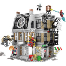 10840 Infinito Guerra Sanctum Sanctorum Showdown Marvel Avengers Iron man Spidermans Legoings Building Block Brinquedos Compatíveis(China)