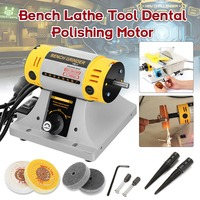 Doersupp 350W Bench Grinder Polishing Machine Kit For Jewelry Dental Bench Lathe Motor