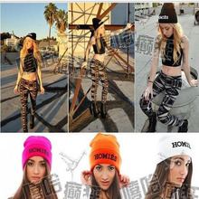 Wholesale Beanie Winter Fashion Knitted HOMIES Cap Women Men Hip Hop Warm Homies Hat Casual Gorros Fall Caps Black Boys Beanies