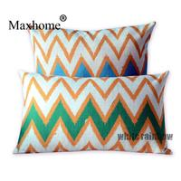 Nordic Geometric Cotton Linen Pillowcase Color Striped Waist Pillow Cushion Decorative Pillow Home Decor Sofa Throw Pillows