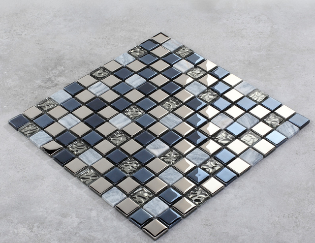 Senza soluzione di continuità di vetro blu piastrelle texture di