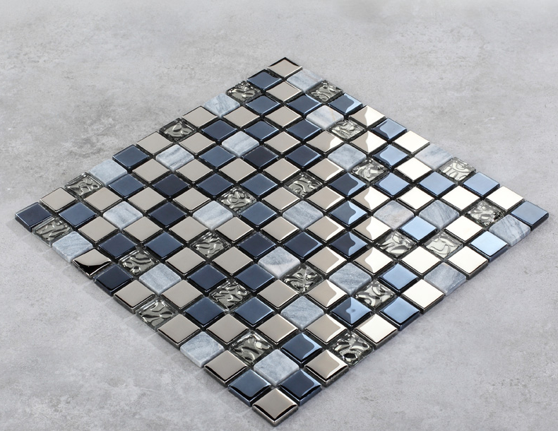 Auqa Blue silver Glass mosaic tiles kitchen backsplash natural marble tiles grey bathroom shower wall tile subway decor,LSTC016 strong view pebble ceramic mosaic tiles for bathroom shower floor kitchen backsplash swimming pool home garden decor tile lsyb14