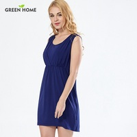 Green Home Simple Breastfeeding And Nursing Dress Summer Sleeveless Dresses For Pregnant Woman Clothing