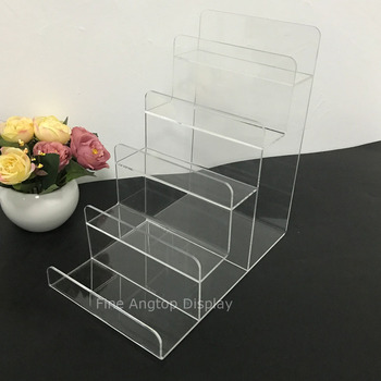 Clear Acrylic 5 Tier Wallet Display Stand Purse Holder Jewelry Show Racks