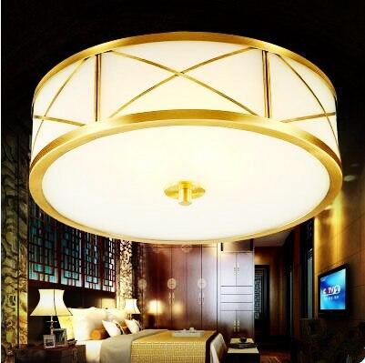 Messing Glas Plafonnier LED Deckenleuchten Leuchten Hause Beleuchtung Wohnzimmer Licht Vintage Deckenleuchte Lampara Techo Leuch