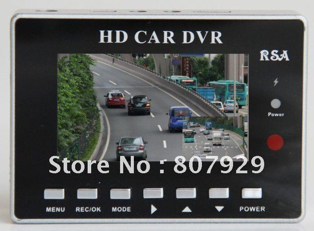 """HK Free shipping 2.7""""16:9 TFT 2CH 720P HD CAR DVR,Support Dual-channel recording simultaneously,with rear camera"""