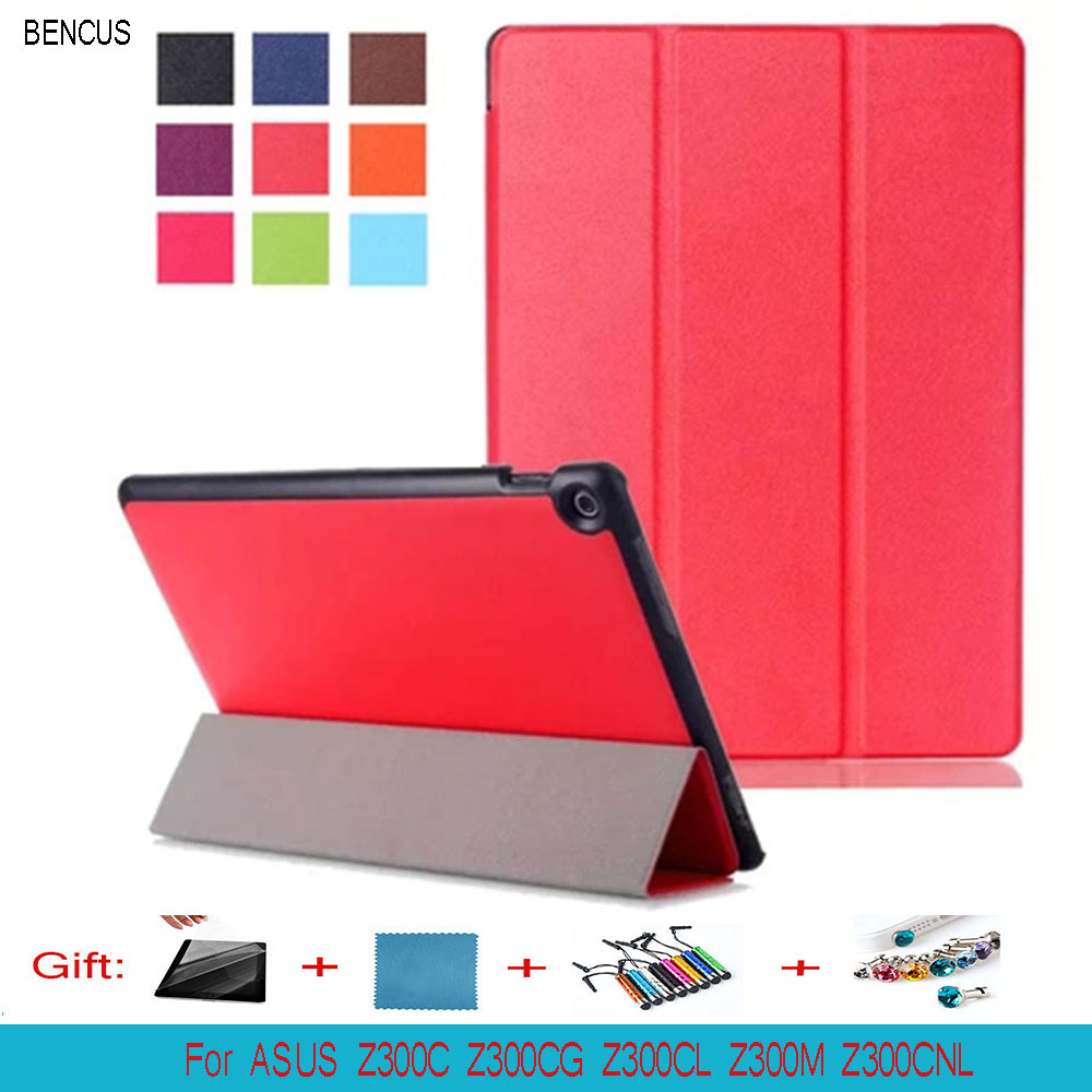 BENCUS CY Ultra Slim Folio Stand PU Leather Magnetic Book Cover Case For ASUS Zenpad 10 Z300C Z300CL Z300CG Z300M 10.1 Tablet