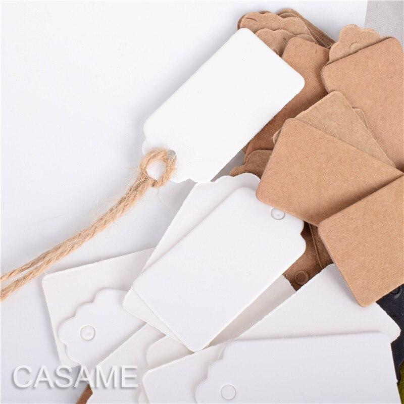 0 68 25 De Reduction 2 4 Cm 100 Pieces Mini Etiquette Etiquette D Emballage Kraft Brun Noir Blanc Etiquettes En Papier Bricolage Carre Faveurs De