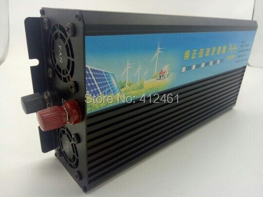 surge power 5000w 2500W Pure Sine Wave Inverter 12v/24v/48v dc input to 120v/220v ac output