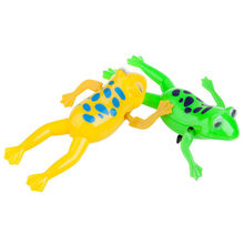 Hot Sale Dynamic Swimming Frogs Relax Clockwork Frog Toy Baby Bath Toy Wind Up Toy For Kids Children Gift(China)
