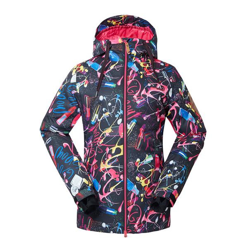 цена на Black GSOU SNOW Women's Snow Jackets outdoor sports Snowboarding Suit coat 10K Waterproof windproof Winter special Snow clothing