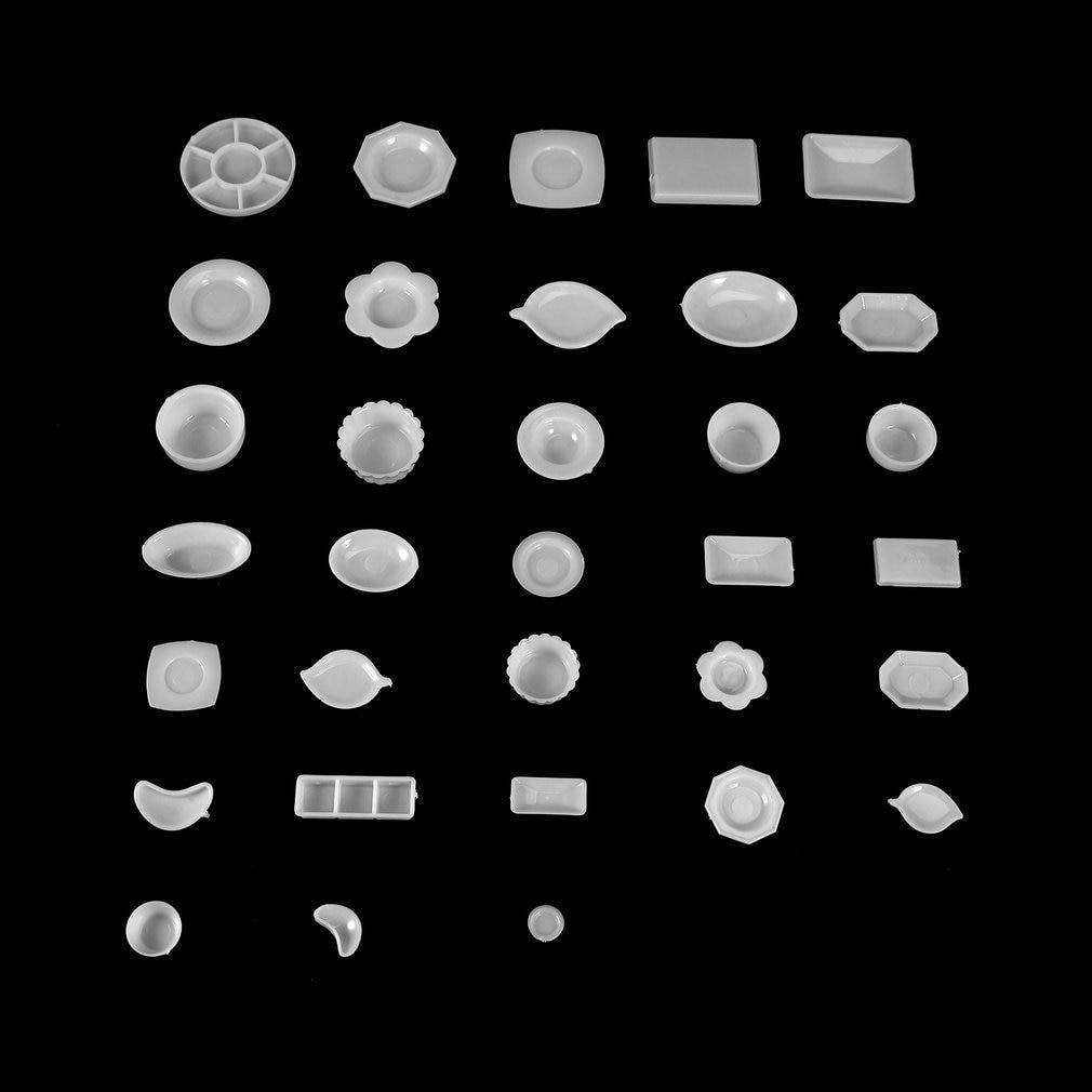 33 Teile/satz Diy Umweltfreundliche Kunststoff Pretend Spielen Spielzeug Gerichte Küche Abendessen Mini Geschirr Set Simulation Geschirr Für Kinder