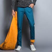 2017 Winter Fleece Men Jeans Slim Fit Men S Fashion Cotton Denim Jeans Casual Pants Warm