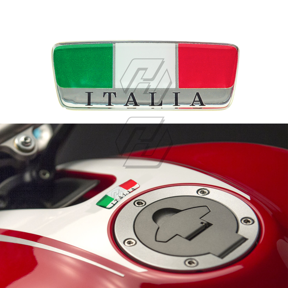 3D Italy Sticker Motorcycle Tank Pad Windshield Italia Stickers Helmet Decals Case For Ducati Aprilia MV Etc