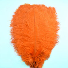 beautiful cheap feathers ostrich plumes 15-70CM soft Orange feather for jewelry making DIY Home Party plumas Decoration