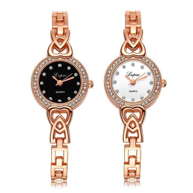 Luxury ladies watches Fashion Women diamond bracelet watches Stainless Steel Rhi