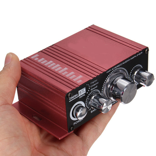 NEW Mini 2CH Hi-Fi Stereo MA-150 12v 2A Amplifier Booster DVD MP3 Speaker for Car Motorcycle Boat home top quality price New