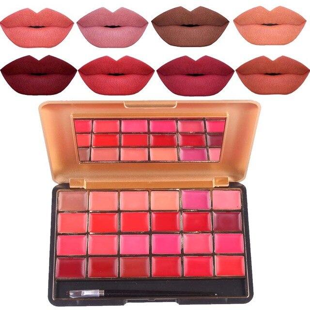Fabuleux Miss rose à lèvres maquillage palette 24 couleur velours mat rouge  WY17