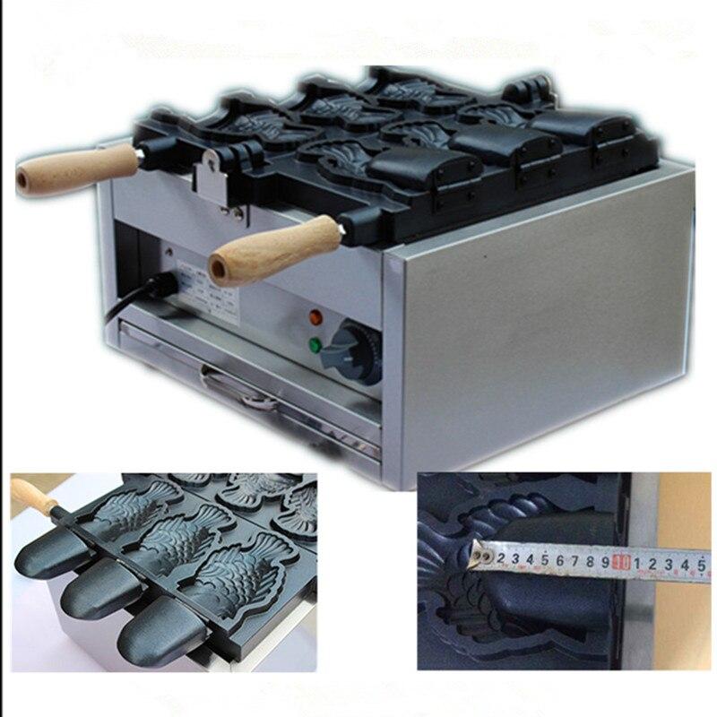 Machine à gaufres en forme de poisson à bouche ouverte machine à gaufres électrique à glace pour poisson Taiyaki fabricant ZF