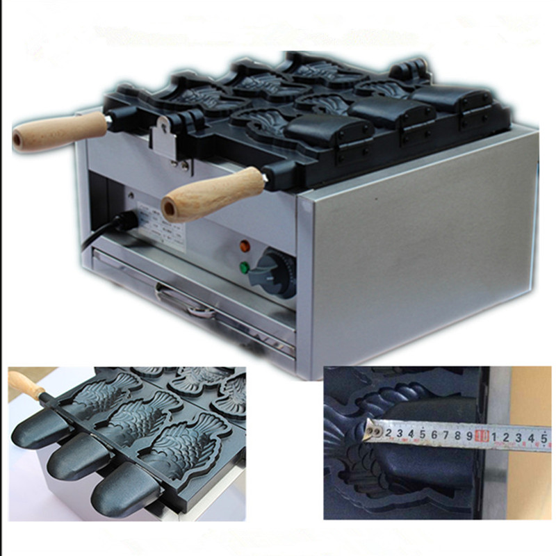 Open mouth fish shape waffle machine electric heating fish ice cream Taiyaki maker  ZF taiyaki fish maffle maker waffle ice cream machine